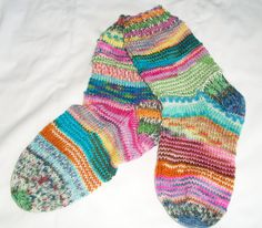 UPCYCLED KRAZY Hand Knitted Socks - Adult Women