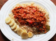 Healthy Cuban Picadillo - I used ground turkey for a low fat version, next time I will add more olives. So yummy!!