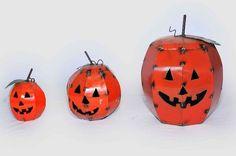 New metal Pumpkins at The Pottery Shop