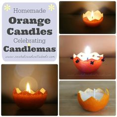 Sun Hats & Wellie Boots: Celebrating Candlemas with homemade Orange Peel Candles