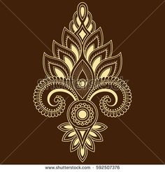Mandala Sternum Tattoo, Henna Mandala, Mandala Art, Floral Embroidery Patterns, Embroidery Flowers Pattern, Embroidery Designs, Rangoli Designs Images, Mehndi Art Designs, Henna Drawings