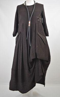 FAB GERMAN ZEDD.PLUS quirky/lagenlook CHOCOLATE parachute dress XL/XXL #ZEDDPLUS #dress