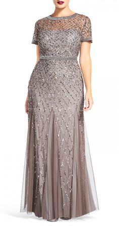 Платье для полных - Adrianna Papell в стиле Гэтсби (Gatsby)