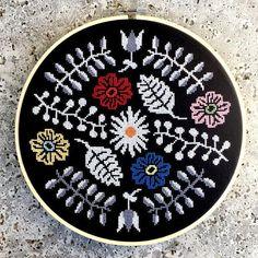 Moody Floral Cross Stitch Pattern