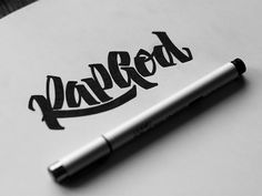 Rap God by Igor Vetoshkin Typographic Design, Graphic Design Typography, Lettering Design, Logo Design, Handwritten Typography, Typography Letters, Types Of Lettering, Brush Lettering, Hip Hop Logo