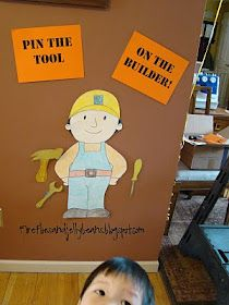 Fireflies and Jellybeans: 2 Year Old Construction Party, carson would love this one- as bob the builder ideas for 6 year olds 2 Birthday, Tractor Birthday, Birthday Party Games, 4th Birthday Parties, Birthday Ideas, Birthday Banners, 1st Birthdays, Birthday Invitations, Party Party