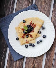 8 sunne pannekakeoppskrifter - til frukost, lunsj og middag! - LINDASTUHAUG Cottage Cheese, Bacon, Smoothies, Caramel, Pancakes, Goodies, Strawberry, Low Carb, Healthy Recipes