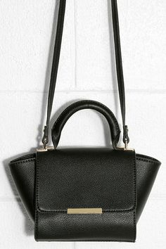 Wing the Alarm Black Mini Handbag