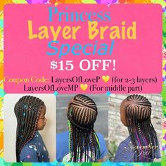 Children's Braids and Beads! Booking Link In Bio! Black Kids Hairstyles, Girl Hairstyles, Kid Braid Styles, Braid Designs, Braids With Beads, Middle Parts, Braids For Kids, Cornrows, Natural Hair Styles