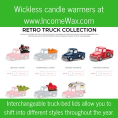 NEW Limited Time Only Scentsy Old Fashioned Retro Trucks Home Decor wickless candle warmers from www.IncomeWax.com