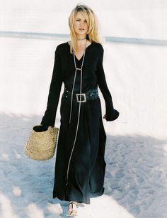 Kate Moss by Peter Lindbergh for Harper's Bazaar February 1996