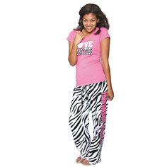 Zebra Flannel Pants + Fuchsia Top = A Perfect Match