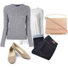 Weekend Wear by sillycatgrl on Polyvore featuring Polo Ralph Lauren, T By Alexander Wang, Paige Denim and Eddie Borgo