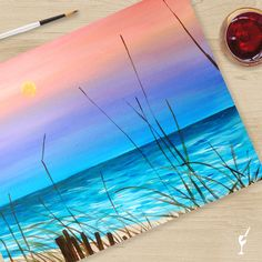 Paschal's Moonshipped directly to your home! Create this beautiful piece of art in the safety of your home. Unwind and twist with the beach at home! Cool Diy Projects, Craft Projects, Moon Beach, Arts And Crafts, Diy Crafts, Paint Supplies, Paint Party, Beautiful Paintings, Step By Step Instructions