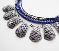 STUDIO NOLDS Sieraden - Indigo & silver necklace Indigo, Handmade Jewelry, Beaded Bracelets, Studio, Fashion, Moda, Indigo Dye, Handmade Jewellery, Fashion Styles