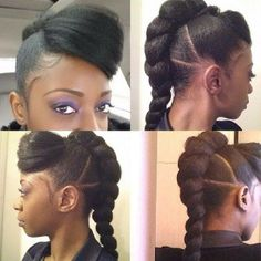 Marley hair style for short hair with side fringe