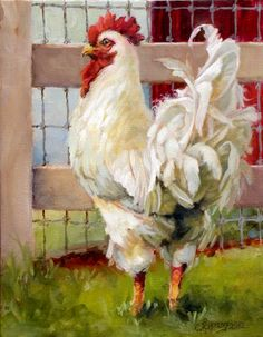 Beautiful rooster--not food! Painting by Christie Repasy                                                                                                                                                      More