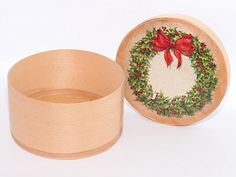 Christmas eve box Hand Painted Wooden Box xmas eve box wooden