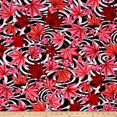 Philip Jacobs Maple Stream Black from @fabricdotcom  Designed by Philip Jacobs for Free Spirit Fabrics in association with Westminster/Rowan, this cotton print is perfect for Quilting, Apparel, and Home Decor Fabrics. Colors include shades of pink, black, and white.