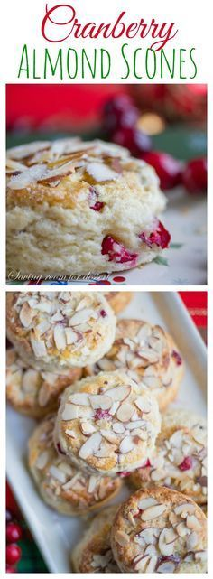 Cranberry Almond Scones Light and airy, perfectly moist and sweet and great for a special breakfast or brunch during the holidays! Cranberry Scones, Cranberry Almond, Cranberry Recipes, Holiday Recipes, Holiday Desserts, Cherry Scones, Orange Scones, Easter Desserts, Cranberry Sauce