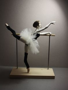 """BJD ballerina doll """"At the ballet class"""" + Dancers bar. Collectible doll, art doll, ball jointed doll, gift for dancer. Ballerina Doll, Little Ballerina, Ballet Class, Ballet Dancers, Home Ballet Studio, Dance Studio, Ceramic Animals, Doll Stands, Natalie Portman Black Swan"""