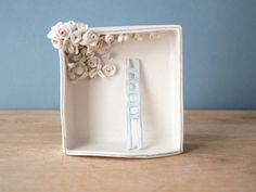 ladder and blooming ceiling porcelain box by villarrealceramics, $70.00
