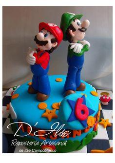 (1) TORTAS DECORADAS INFANTILES - De niños Super Mario Cake, Cake Cookies, Amazing Cakes, Snacks, Desserts, House, Ideas, Food, Mockup