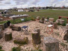 """April school garden class <--What a wonderful """"classroom"""""""