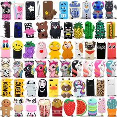diy phone case 709598485016965687 - For Iphone Hot Cartoon Soft Silicone Phone Case Covers Back Source by loudelcuse Iphone 8, 3d Iphone Cases, Bling Phone Cases, Ipod Cases, Diy Phone Case, Cute Phone Cases, Coque Iphone, Iphone 7 Plus, Apple Iphone
