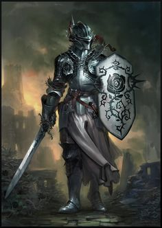 ArtStation - Knight of The Black rose, Yann Blomquist