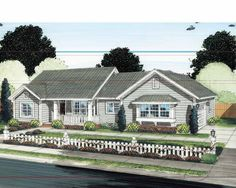 Eplans Traditional House Plan - Great Traffic Flow - 1342 Square Feet and 3 Bedrooms from Eplans - House Plan Code HWEPL75334