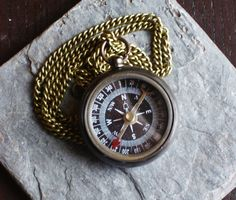 Working compass pendant necklace by DelicateIndustry1 on Etsy, $32.00