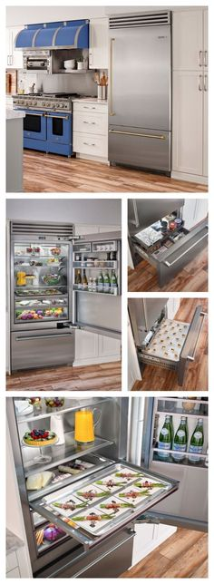 TELL US what you think of our NEW 36 Built-in Refrigerator that was just named a finalist for a Best of Year Award by Interior Design Magazine. Magazine Design, Interior Design Magazine, Best Interior Design, Custom Kitchens, Cool Kitchens, Built In Refrigerator, Mini Fridge, Kitchen Trends, Cuisines Design