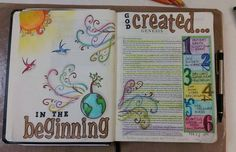 Created by:  Kelly Mahany - Bible Art Journaling, Bible Journaling.