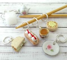 High Tea stitch markers  miniature food stitchmarkers