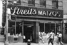Street's Matzos Kosher bakery at 148-154Rivington Street at the corner of Suffolk Street Tenement Museum photo.jpg