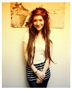 my partial dreads may never look like that.. too many curlys in the front... but very cute look!