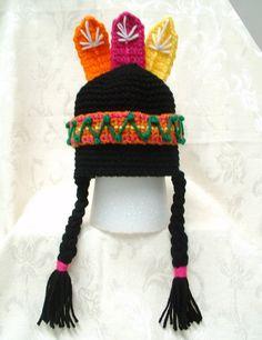 Lil Indian Boy/Girl Hat  Pattern - crochet