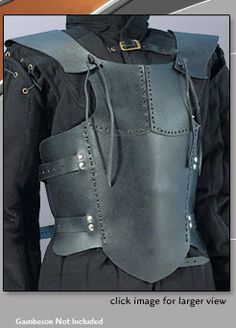 Dark Knight Armoury designs hand-crafted custom leather armor for medieval and renaissance fairs, and theaters. We have SCA leather armor and LARP armor will protect you in role playing events, and Chainmail armour and functional armour for swordfighting. Leather Armor, Leather Vest, Black Leather, Larp Armor, Medieval Armor, Helmet Armor, Costume Armour, Renaissance Clothing, Fantasy Armor