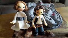 Vegan cake Star Wars # Halcon Milenario #Leia