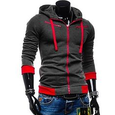 Conjuntos+Activewear+De+los+hombres+Casual+/+Trabajo+/+Deporte+Algodón+-+Manga+Larga+–+EUR+€+17.63