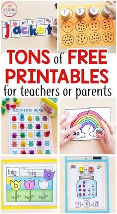 Tons of free printables for preschool, kindergarten and early elementary! Math printables, literacy printables, alphabet printables, science printables and more! #freeprintables #preschool #kindergarten #firstgrade #centers