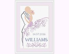 Cross stitch pattern- Wedding gift - Wedding Cross Stitch.  This is a digital Cross stitch pattern that you can instantly download from Etsy
