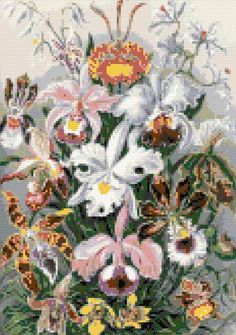 Orchids cross stitch kit or pattern | Yiotas XStitch