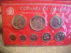 Coins of Jamaica Franklin Mint LTD BU Coinage silver vintage