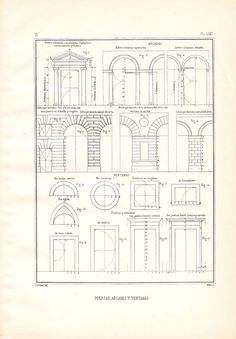 Doors Arcades Windows Architectural Drawing Vignola by carambas, $14.00