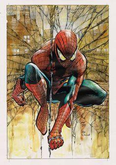 #Spiderman #Fan #Art. (Spiderman) By: Yusuf Idris - Mercenary Art Studio. (THE * 5 * STÅR * ÅWARD * OF: * AW YEAH, IT'S MAJOR ÅWESOMENESS!!!™)[THANK Ü 4 PINNING!!!<·><]<©>ÅÅÅ+(OB4E)    https://s-media-cache-ak0.pinimg.com/474x/fc/60/4f/fc604f547a3de039b2bd024a889f3846.jpg