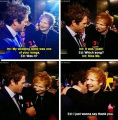 This is one of the many reasons I love Ed Sheeran!