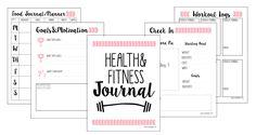 Free Fitness Journal Planner Printable Gift