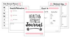 Free Fitness Journal Planner Printable Gift Christmas